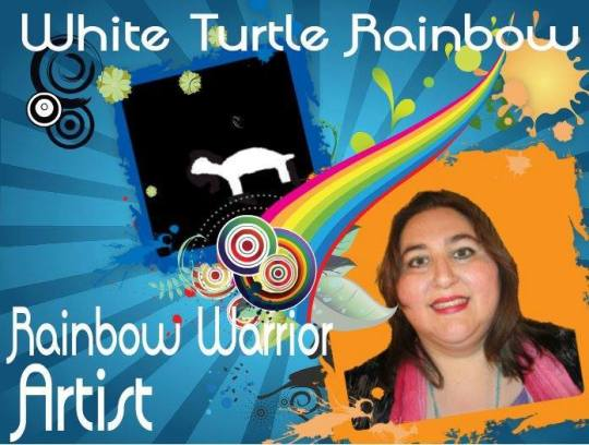 White Turtle Rainbow - Rainbow Warrior Artist